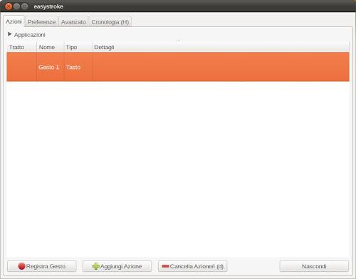 Easystroke su Ubuntu