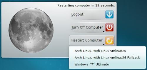 KDE 4.7 - Opzione del Grub al riavvio