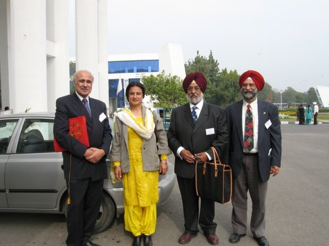 Fakir Aijazuddin, Gurmeet Rai, Bhayee Sikandar Singh and Roopinder Singh after the concluding session of The Arts of Punjab seminar at the Department of Fine Arts, Punjabi University, Patiala on February 14, 2006.