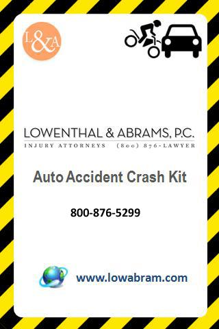 Auto Accident Crash Kit