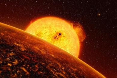 Concepção artística do planeta CoRoT-7b (Foto: ESO/AP)