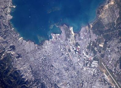 Vista de Porto Príncipe a partir da estação orbital (Foto: Soichi Noguchi/ISS Nasa)