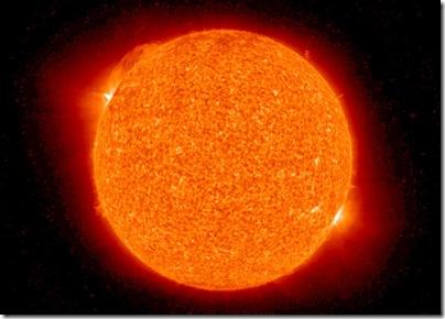 A primeira cena da ejeção de massa coronal (Foto: NASA)