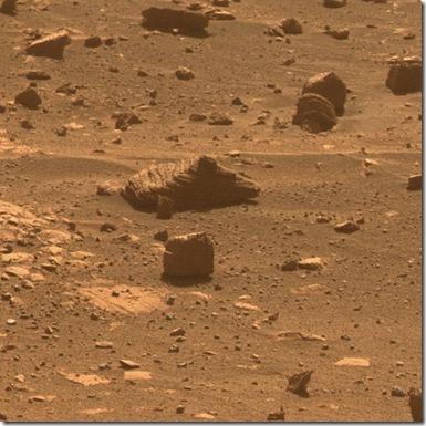 Primeira fotografia tirada de maneira atutônoma pelo Opportunitty (Foto: NASA/JPL-Caltech/Cornell University)