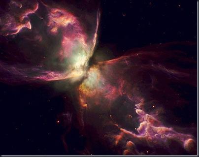 Uma das estrelas mais quentes da galáxia, na nebulosa Bug (Foto: Anthony Holloway/JBCA)