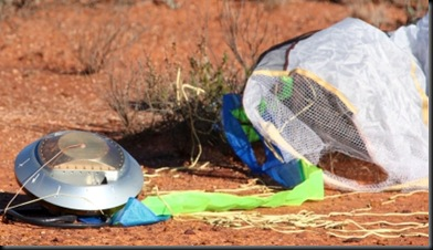 Cápsula da sonda Hayabusa no sul da Austrália (Foto: JAXA / AFP)