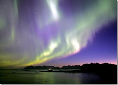 Aurora boreal (Foto via R7)