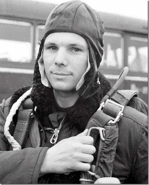 Gagarin em treinamento (Foto: Tass - 12/04/1961)