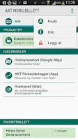Screenshot of Akt Mobilbillett