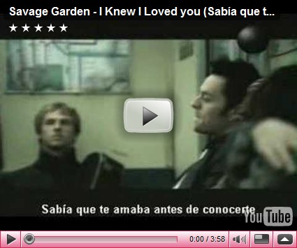 Backpacker I Knew I Loved You Savage Garden