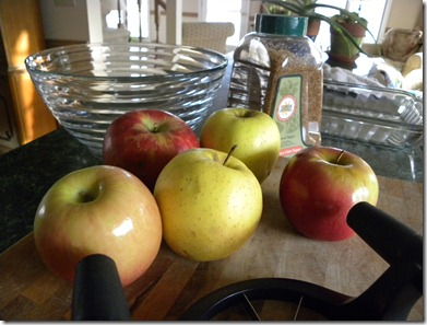 Making Farmer Kim's Apple Cake