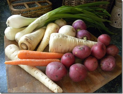 CSA root veggies
