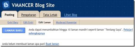Blogger dalam konsep-VMANCER Blog Site - Edit Laman