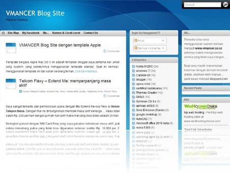 vmancer blog site-apple mac os X - blogger template