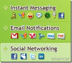 Digsby = IM   Email   Social Networks