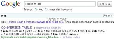 google search as unit conversion