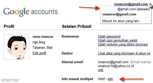 google multiple accounts sign in
