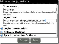 blackberry - change email footer (signature)