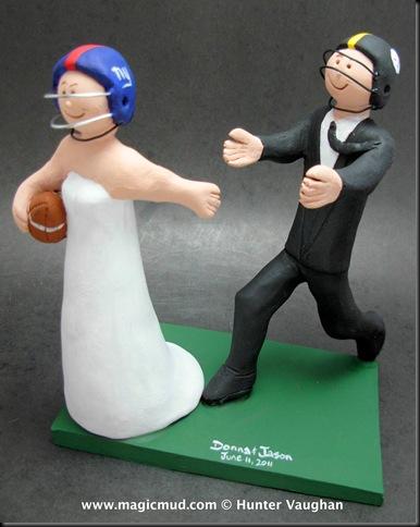Custom Wedding Cake Toppers Football Bride Wedding Cake Topper