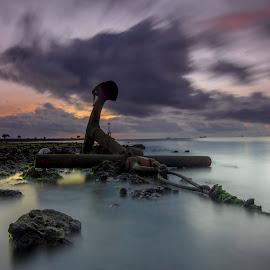 Anchor by Ade Irgha - Landscapes Beaches ( explore bali, airimagebali.com, sunrise, seranganisland, anchor )