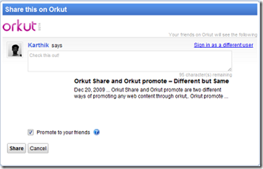 orkut share