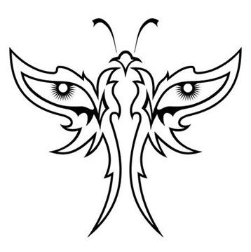black butterfly tattoos. Black Butterfly Tattoo Designs