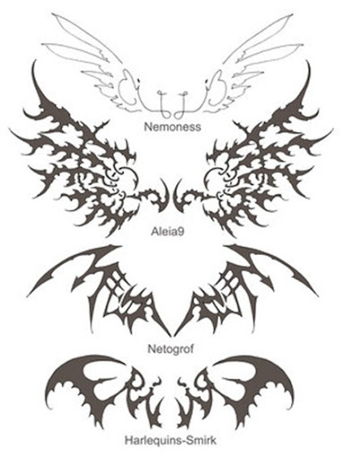 angel wings tattoo design. This angel wing tattoo design