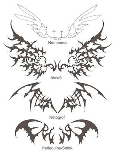 raven wing tattoo butterfly eye tattoo celtic lower back tattoo designs