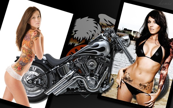 harley_davidson_6_and_hot_women_wallpaper