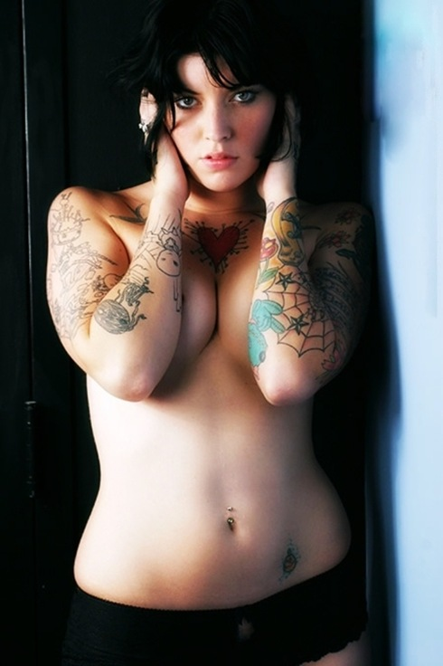 tattood woman  10