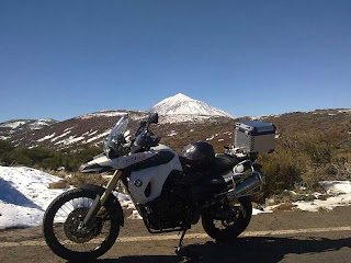 BMW F800 GS Adventure en el Teide
