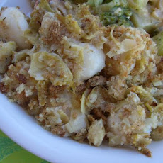 Baked Fish With Artichoke Crumb Topping