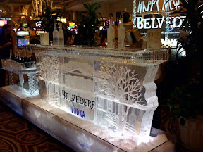 New Years eve at Cesar's casino ice bar