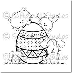 Happy Easter-digital stamp