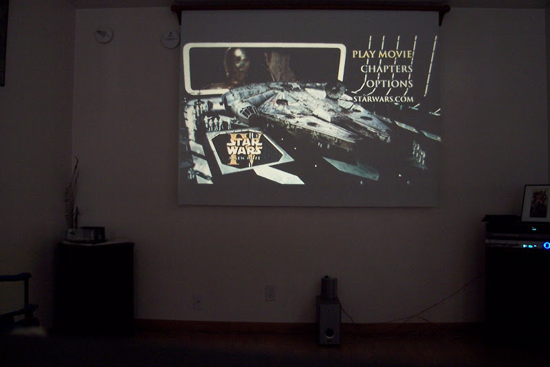Picture of my projector in action