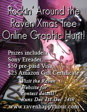 Rockin' Around the Raven Xmas Tree Contest! Win a SONY ereader!