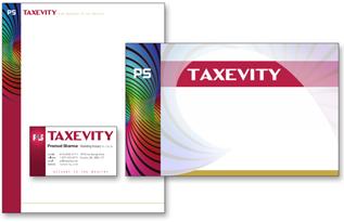 Taxevity branding by Fritz Lyons