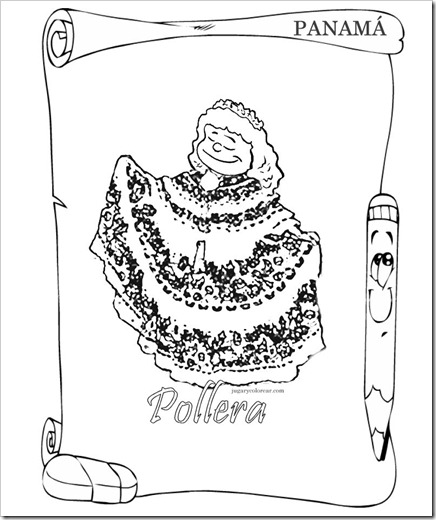 POLLERA DE PANAM&Aacute; 1