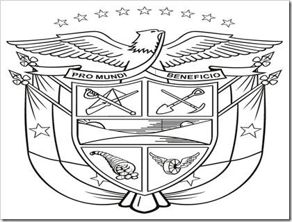 Escudo de colombia dibujo para colorear - Imagui
