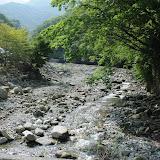 西丹沢自然教室を出発したところ。天気がよく景色が綺麗。