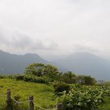 蛭山頂到着して、一休みしたあと。少しずつ晴れてきたけど景色はあまり望めず。