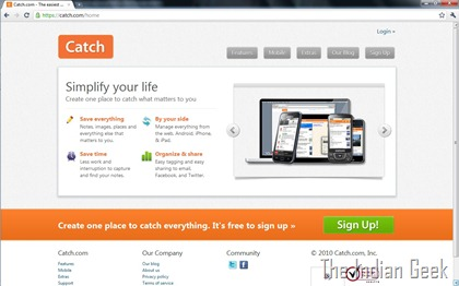Catch website - Home