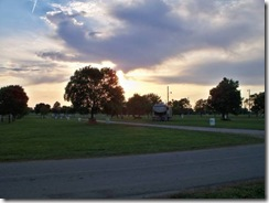 Sunset over Campground
