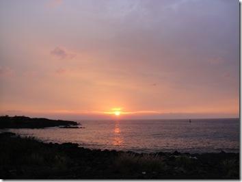 ハワイ島・夕日