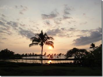 サンセット・ハワイ島・夕日