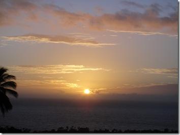 ハワイ島夕日・サンセット