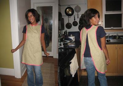 "Miss Sews-it-all: One Yard ""Use-it-all"" Apron Pattern and Tutorial"