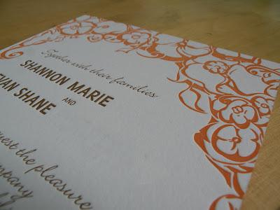 letterpress wedding invites by ann deotte