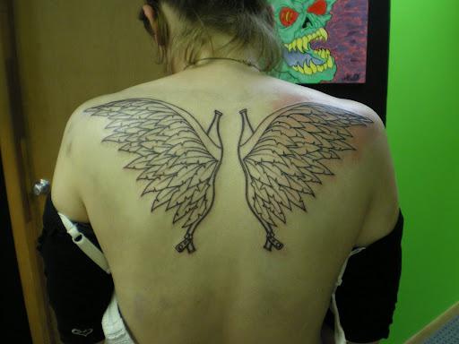 Body Art Temporary Tattoo on Back Body