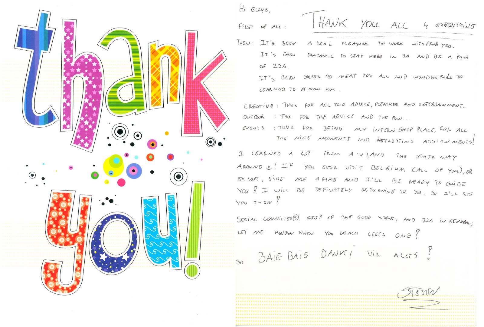 Thank You Letter Farewell To Colleagues Images Letter Format